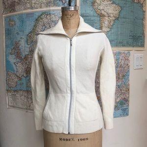 Lafayette 148 New York soft wool angora zip up